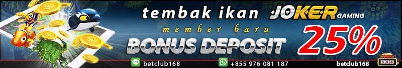 banner deposit tembak ikan 25